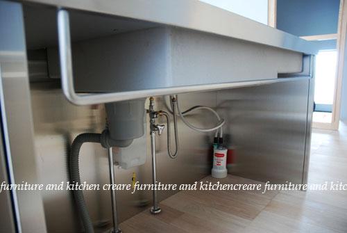 ステンレスオーダーキッチン 110cmの大きなシンクとドロップインコンロ 643イメージ-4