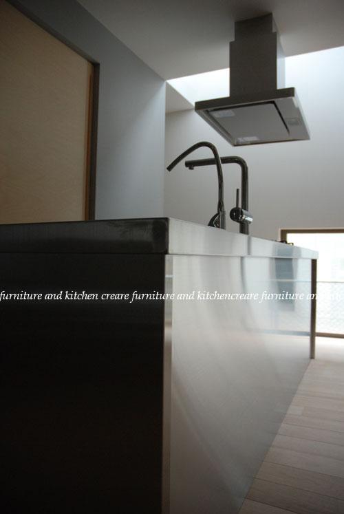 ステンレスオーダーキッチン 110cmの大きなシンクとドロップインコンロ 643イメージ-8