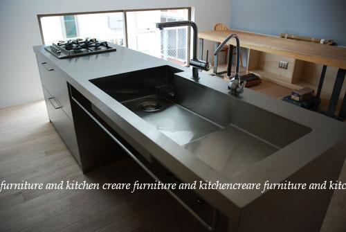 ステンレスオーダーキッチン 110cmの大きなシンクとドロップインコンロ 643イメージ-6
