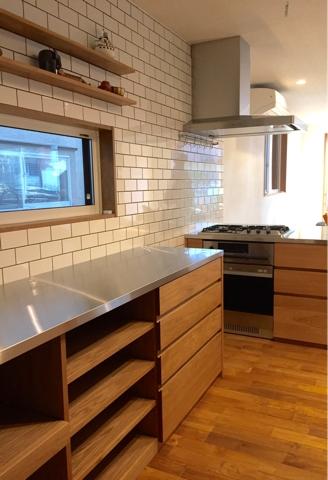 オーダーキッチン ガスオーブンとガゲナウ60cm食洗機をビルトイン 734イメージ-3