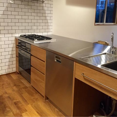 オーダーキッチン ガスオーブンとガゲナウ60cm食洗機をビルトイン 734イメージ-10