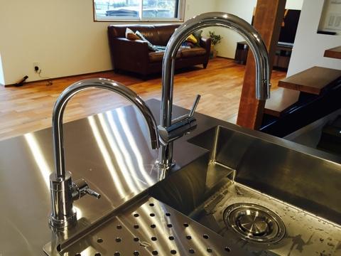 オーダーキッチン ガスオーブンとガゲナウ60cm食洗機をビルトイン 734イメージ-15
