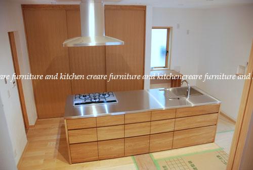 オーダーメードキッチン ガゲナウ食洗機とナラの木とステンレス 630イメージ-2