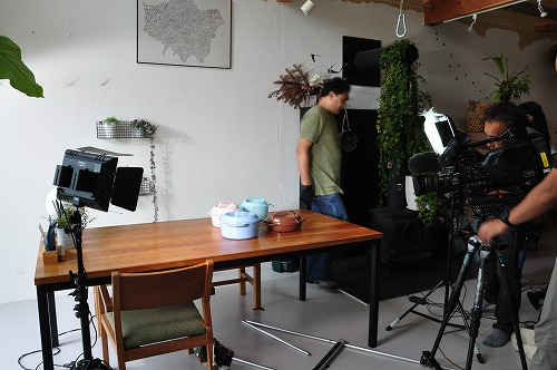 NHK イッピン 燕の鍋リロンデルの撮影風景
