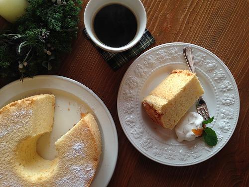 白石敦子先生 シフォンケーキ おやつタイム