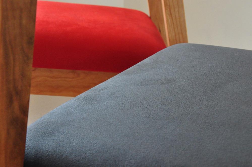 カウンターチェア ハイチェア ラムース生地x無垢チェリー 6010イメージ-7