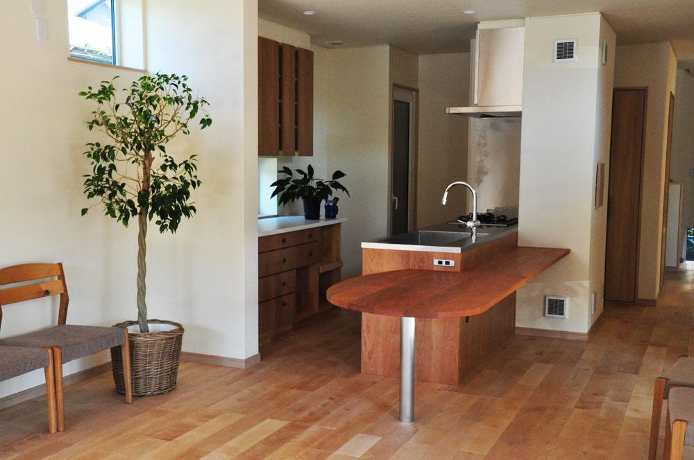 ミーレ25周年モデル食洗機のついたオーダーキッチンとカウンターテーブルを一緒に製作 no.5055イメージ-2