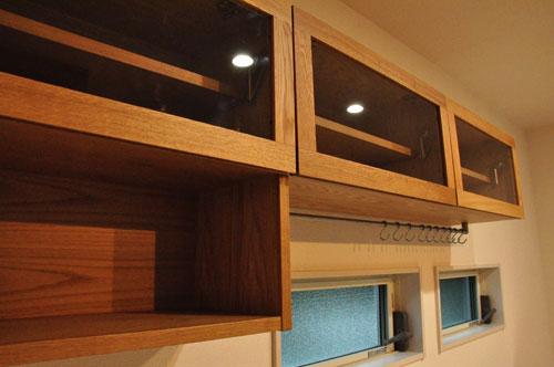壁から冷蔵庫までの食器棚と吊戸棚 ツールバーを付けて 5057イメージ-4