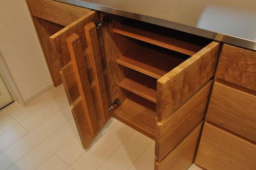壁から冷蔵庫までの食器棚と吊戸棚 ツールバーを付けて 5057イメージ-10