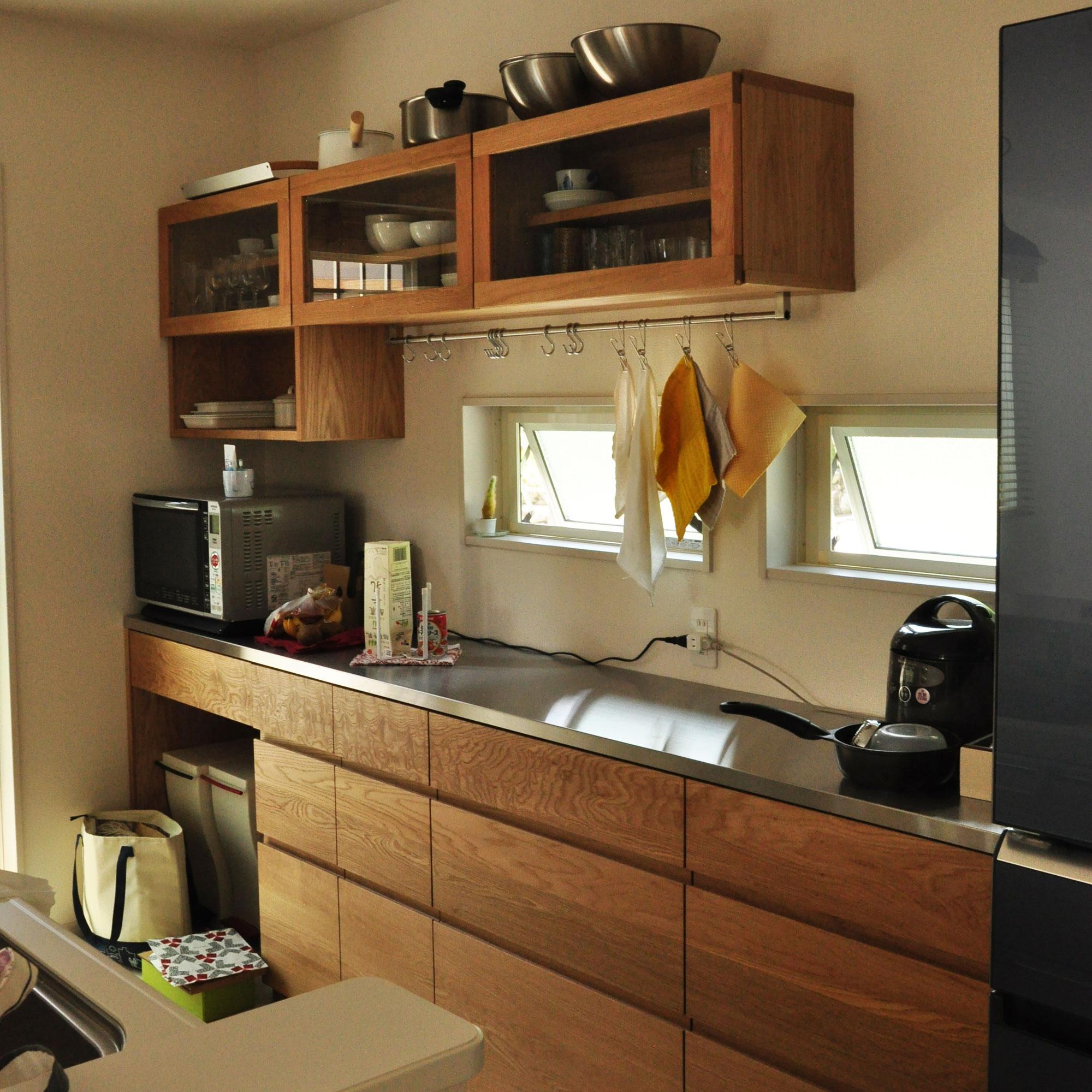 壁から冷蔵庫までの食器棚と吊戸棚 ツールバーを付けて 5057イメージ-1