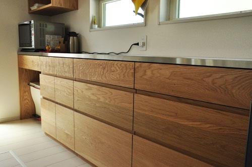 壁から冷蔵庫までの食器棚と吊戸棚 ツールバーを付けて 5057イメージ-8