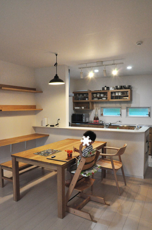壁から冷蔵庫までの食器棚と吊戸棚 ツールバーを付けて 5057イメージ-16