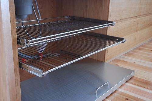 オーダーキッチン 無垢カウンターパネル&木とステンレス 636イメージ-4