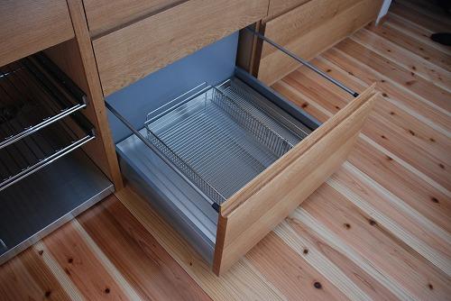 オーダーキッチン 無垢カウンターパネル&木とステンレス 636イメージ-6