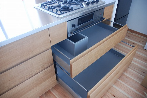 オーダーキッチン 無垢カウンターパネル&木とステンレス 636イメージ-7