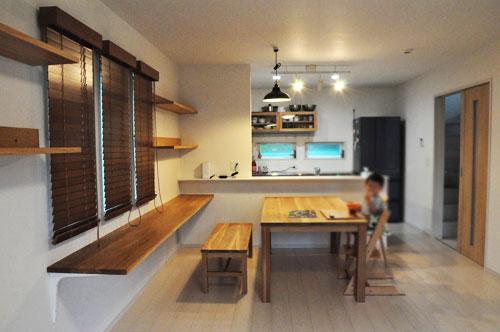 フロートテレビボードと本棚と長机カウンターデスク 5046イメージ-5
