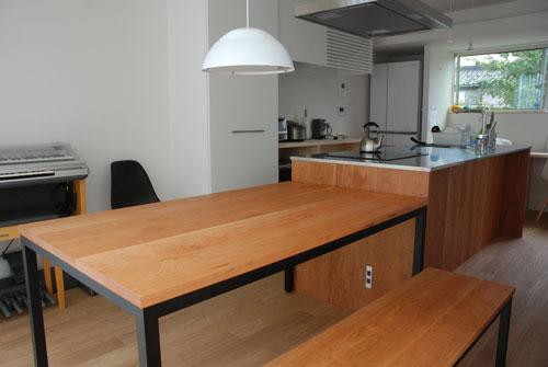 テーブルとベンチをオーダーキッチンと一緒に製作 3029イメージ-3