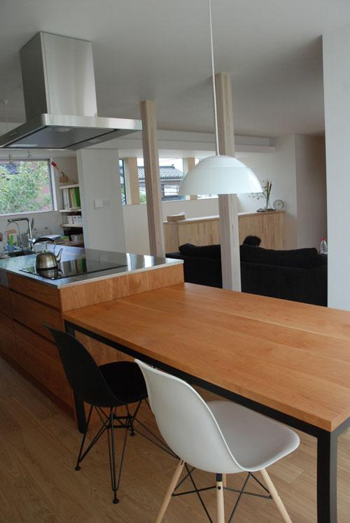 テーブルとベンチをオーダーキッチンと一緒に製作 3029イメージ-5