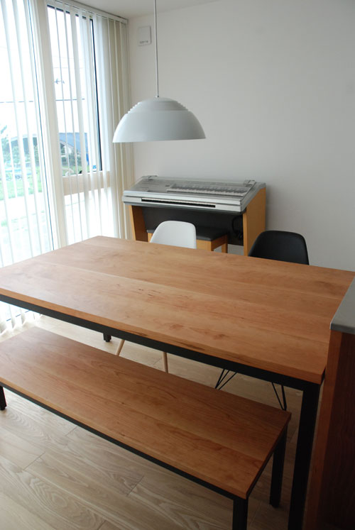 テーブルとベンチをオーダーキッチンと一緒に製作 3029イメージ-1