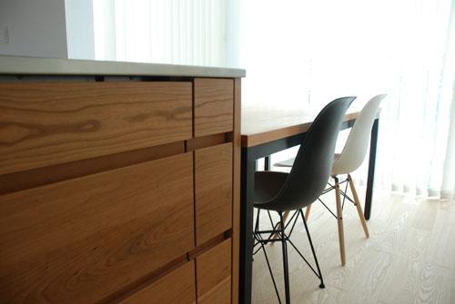 テーブルとベンチをオーダーキッチンと一緒に製作 3029イメージ-6