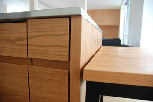 テーブルとベンチをオーダーキッチンと一緒に製作 3029イメージ-9