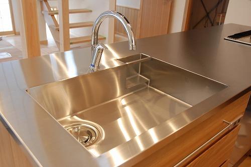 オーダーメードキッチン ガゲナウ食洗機とナラの木とステンレス 630イメージ-12