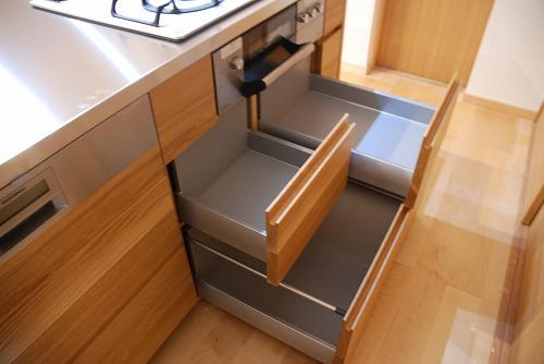オーダーメードキッチン ガゲナウ食洗機とナラの木とステンレス 630イメージ-19