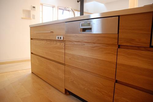 オーダーメードキッチン ガゲナウ食洗機とナラの木とステンレス 630イメージ-14