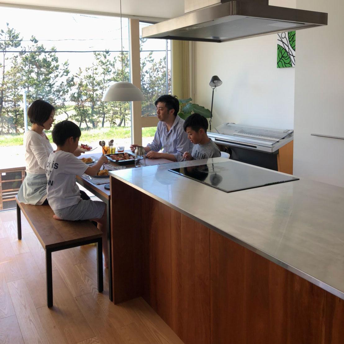 テーブルとベンチをオーダーキッチンと一緒に製作 3029イメージ-2