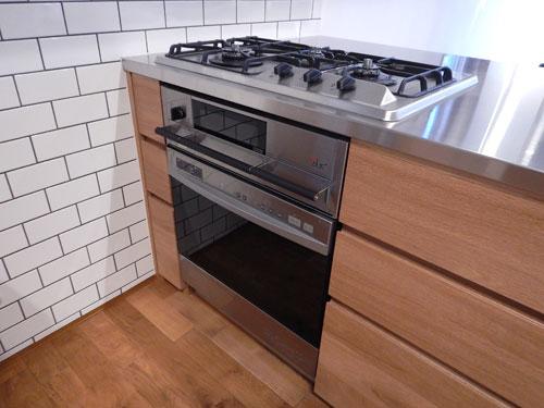 オーダーキッチン ガスオーブンとガゲナウ60cm食洗機をビルトイン 734イメージ-12