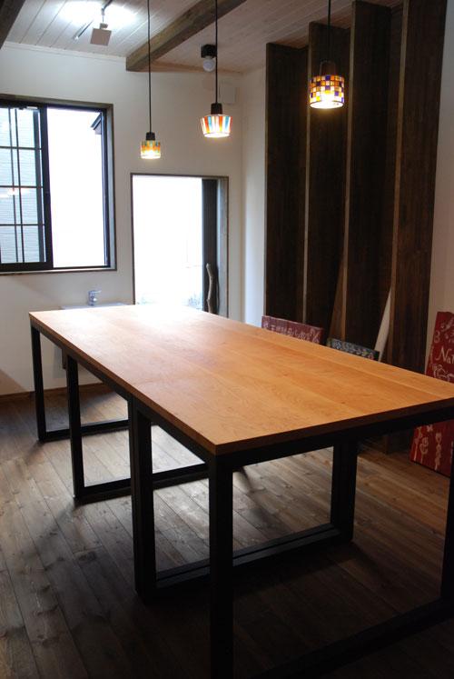 パンこね台としての無垢の作業台テーブルをパン教室に 3031イメージ-4