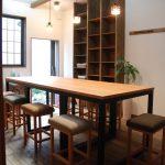パンこね台としての無垢の作業台テーブルをパン教室に 3031