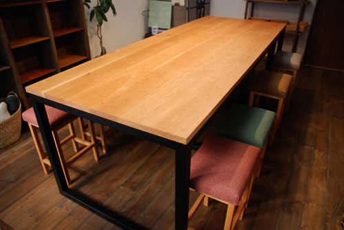 パンこね台としての無垢の作業台テーブルをパン教室に 3031イメージ-7