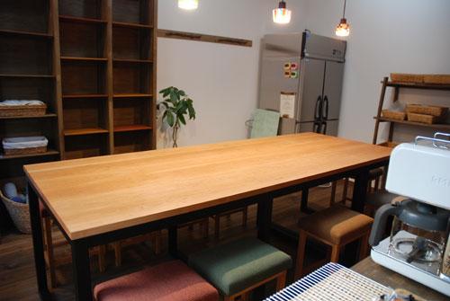 パンこね台としての無垢の作業台テーブルをパン教室に 3031イメージ-5