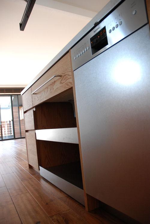 セパレートキッチン ステンレスとオーク材 702イメージ-4