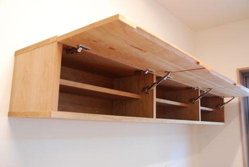 食器棚としてのキッチン背面収納 横長吊戸棚も製作 5059イメージ-9