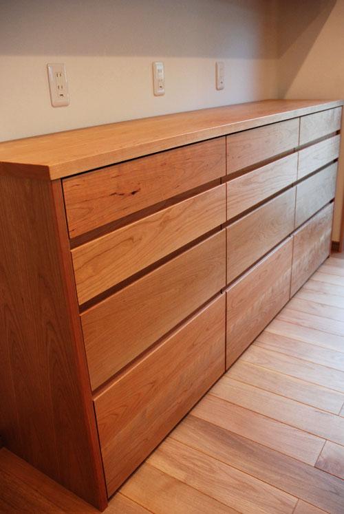 食器棚としてのキッチン背面収納 横長吊戸棚も製作 5059イメージ-2