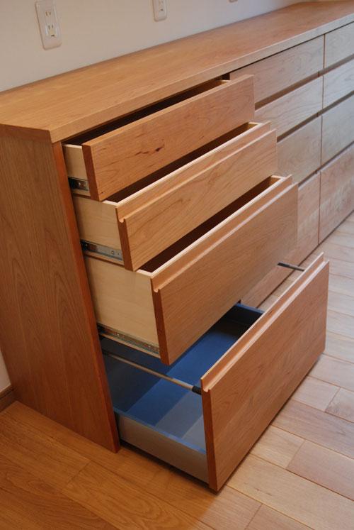 食器棚としてのキッチン背面収納 横長吊戸棚も製作 5059イメージ-3
