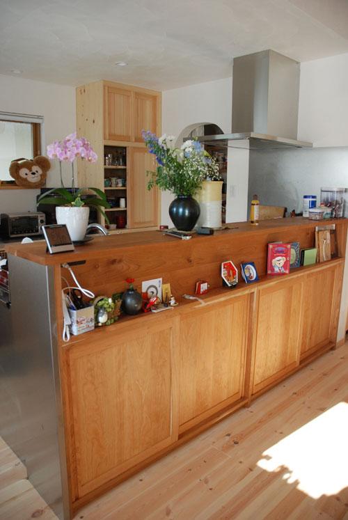 手前に棚のあるステンレスキッチンをオーダー 732イメージ-12