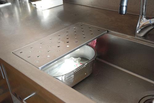 ステンレスオーダーメイドキッチン 手元が隠せる対面キッチン 726イメージ-9