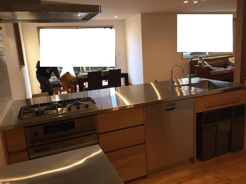 オーダーキッチン ガスオーブンとガゲナウ60cm食洗機をビルトイン 734イメージ-9