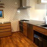 オーダーキッチン ガスオーブンとガゲナウ60cm食洗機をビルトイン 734