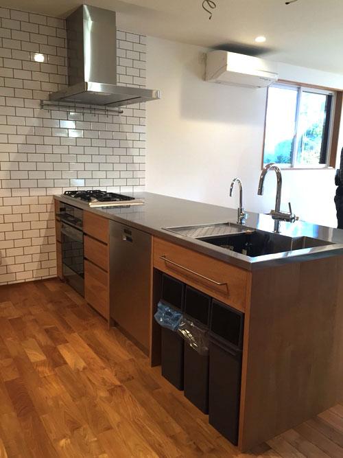 オーダーキッチン ガスオーブンとガゲナウ60cm食洗機をビルトイン 734イメージ-2