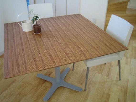 カフェテーブル ゼブラウッド c3004
