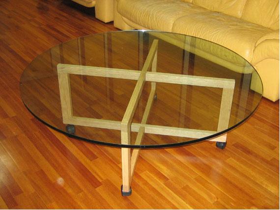 ガラス天板リビングテーブル c3006