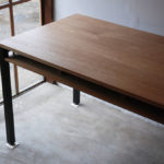 ダイニングテーブル/作業台 棚付&アイアンレッグ 3026