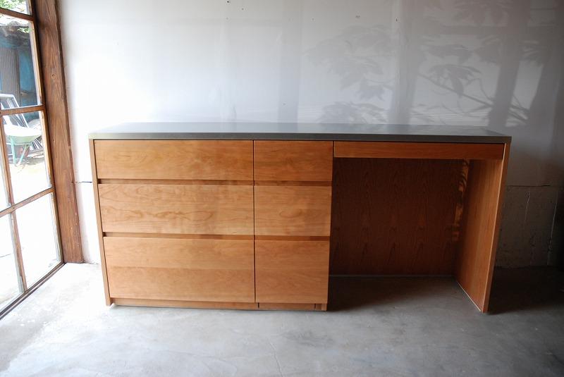食器棚 米びつスライド棚付き 660