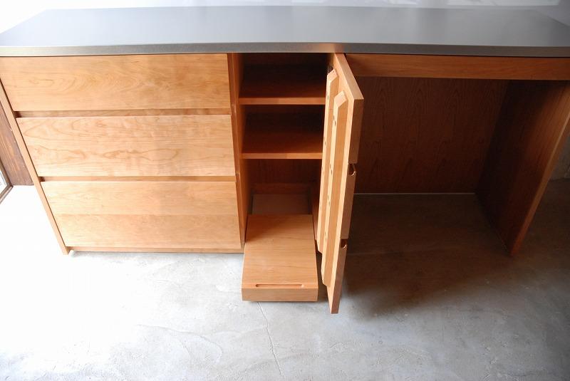 食器棚 米びつスライド棚付き 660イメージ-2
