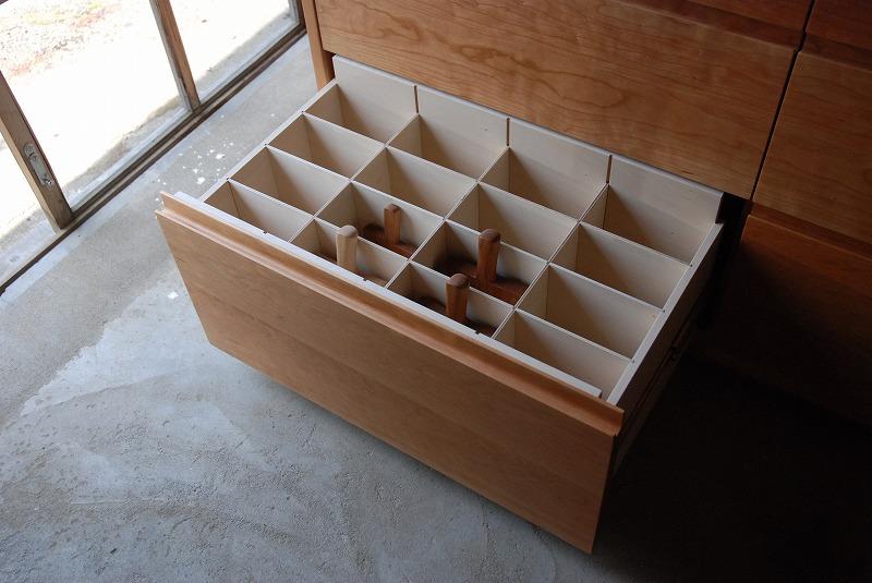 食器棚 米びつスライド棚付き 660イメージ-5