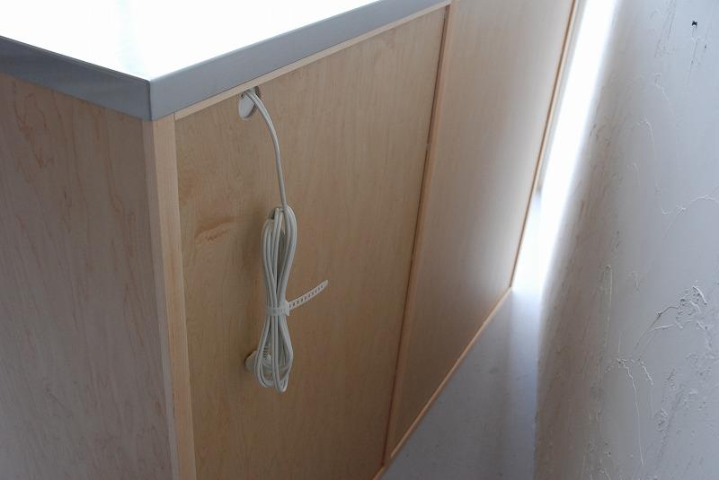炊飯器も隠せるメープルのマンションキッチン食器棚 761イメージ-12